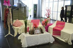 Evento organizado pela Procuradoria Especial da Mulher para coleta de lenços em apoio ao outubro rosa.